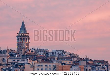 Istanbul. Turkey. Galata tower. Istanbul - Turkey's largest city, a major commercial, industrial and cultural center, the main port of the country.