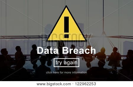 Data Breach Warning Sign Concept