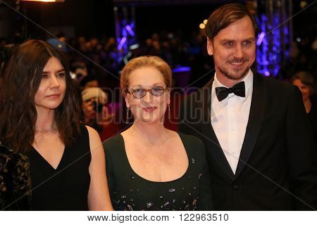 Lars Eidinger, Meryl Streep, Malgorzata Szumowska  attends the closing ceremony of the 66th Berlinale International Film Festival on February 20, 2016 in Berlin, Germany.