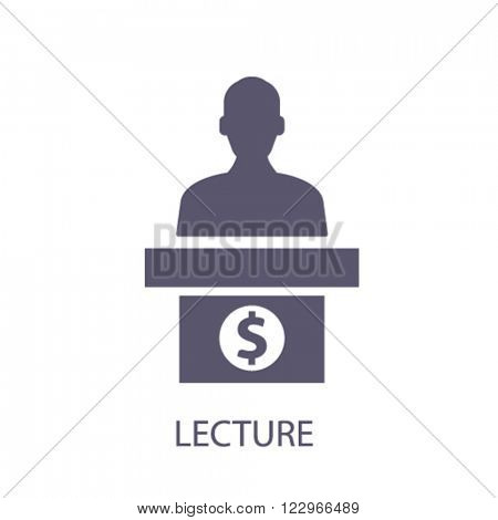 lecture icon, logo, vector