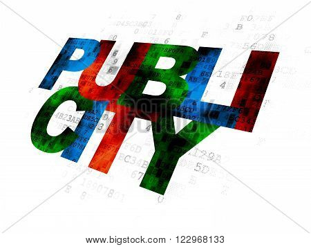 Marketing concept: Publicity on Digital background