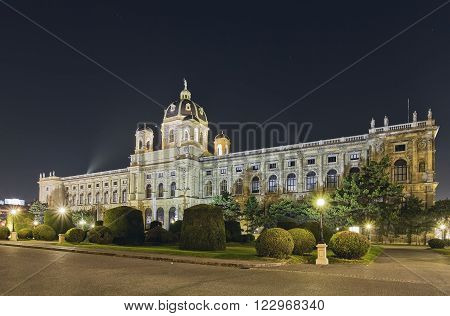VIENNA,AUSTRIA-MARCH 17, 2012: Maria Theresa Square.Arts and history museum Kunsthistorisches Museum Vienna, Austria.