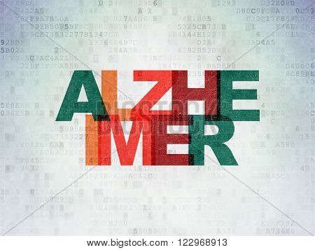 Healthcare concept: Alzheimer on Digital Paper background