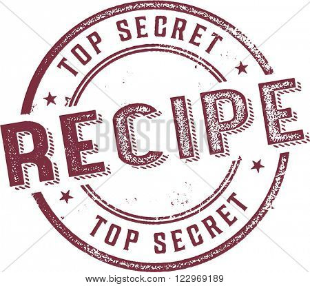 Top Secret Recipe Stamp