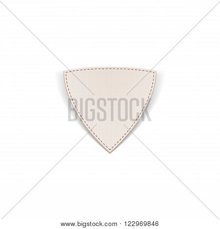 Greeting paper Shield Banner with Seams. Vector Illustration