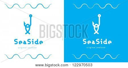 CONCEPTUAL LOGO DESIGN FOR ANY SEA AND FISH RELATED BUSINESS , PROFESSION OR PRODUCT