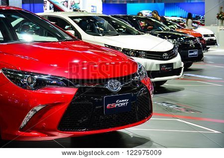 NONTHABURI - MARCH 22: Toyota Camry on display at The 37th Bangkok International Thailand Motor Show 2016 on March 22, 2016 Nonthaburi, Thailand.