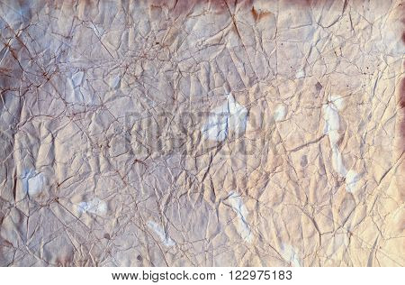 Grungy Stained and Wrinkled Paper Background Bright Pastel Tones