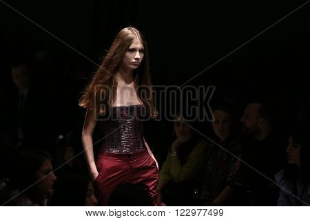 Salih Balta Catwalk In Mercedes-benz Fashion Week Istanbul