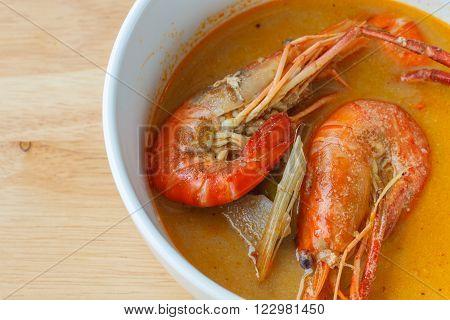 Thai Spicy Soup Shrimp