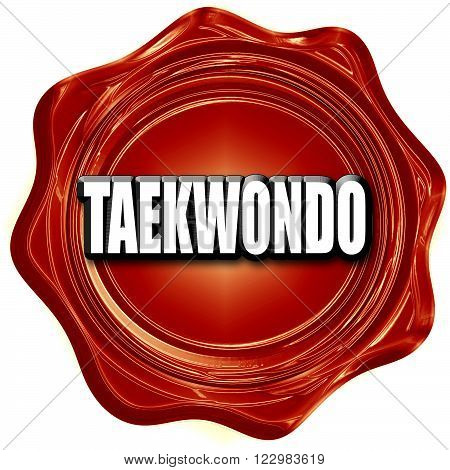 taekwondo sign background with some soft smooth lines