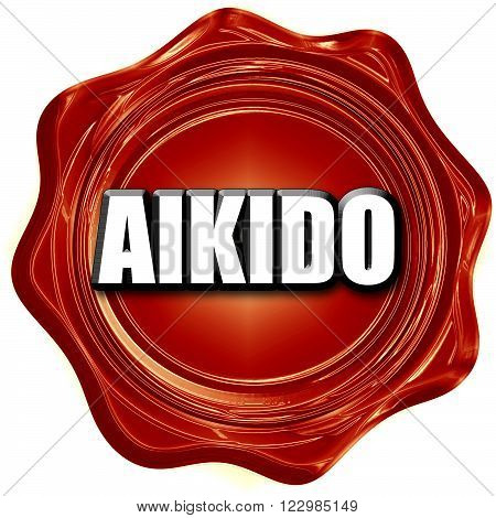 aikido sign background with some soft smooth lines