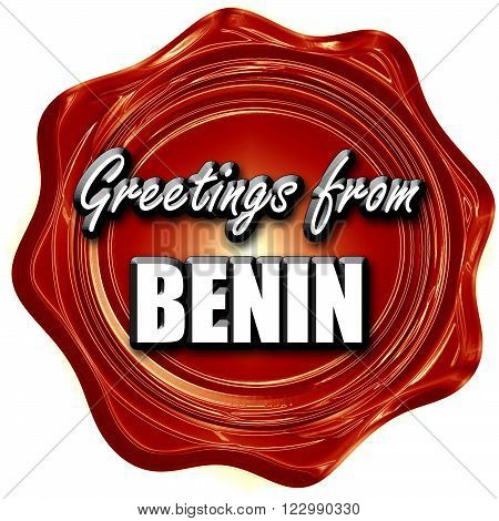 Greetings from benin card with some soft highlights