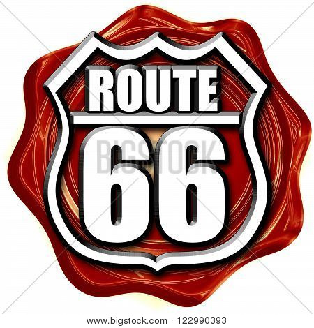Route 66 sign with some soft spots and highlights