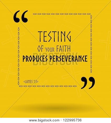 Best Bible quotes about testing of faith and temptations. Christian sayings for Bible study flashcards illustration