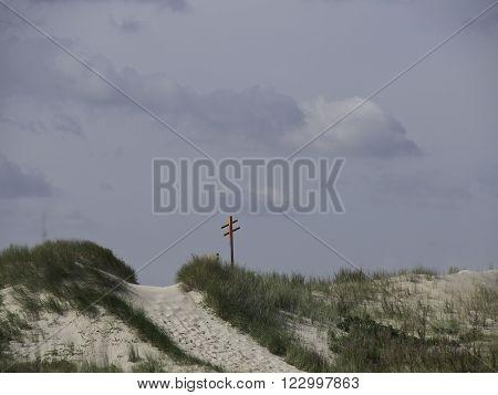 the beach of the german Island spiekeroog
