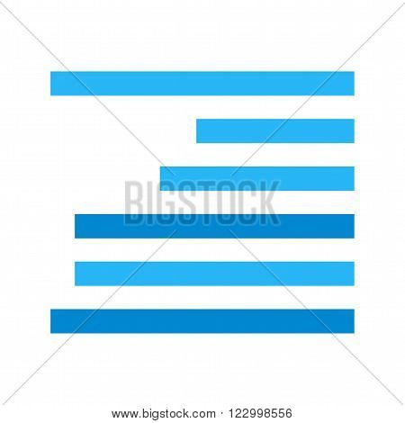 Right, align, text icon vector image.Can also be used for text editing. Suitable for mobile apps, web apps and print media.
