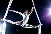 stock photo of aerialist  - Young woman gymnast - JPG