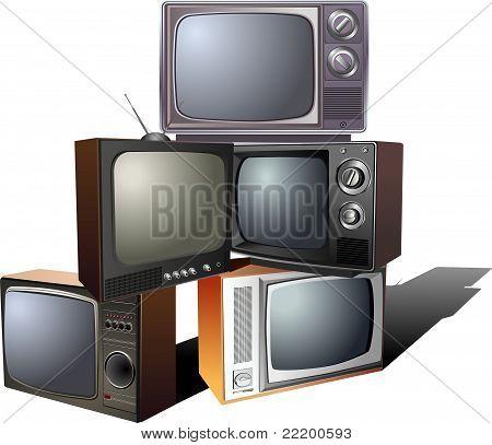 Pyramid of retro TV