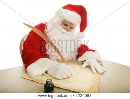 Santa Making His List