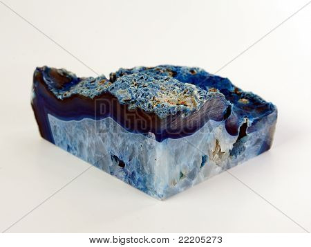 Blue mineral stone