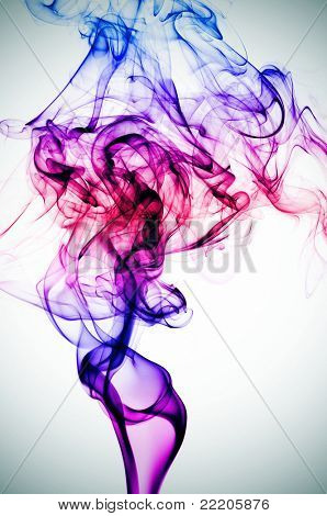 smoke of different colors on a vignetted background
