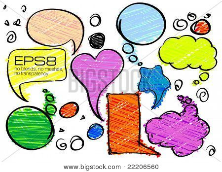 Set of Colorful Speech vector Bubbles.