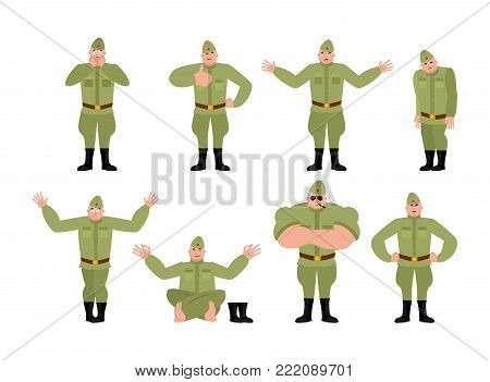 Soviet Soldier Set Poses And
