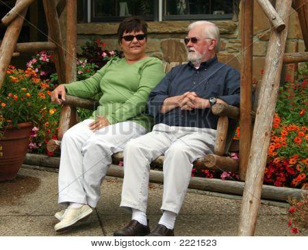 Senior Couple In Swing
