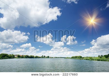 Lake  By Summer Day.