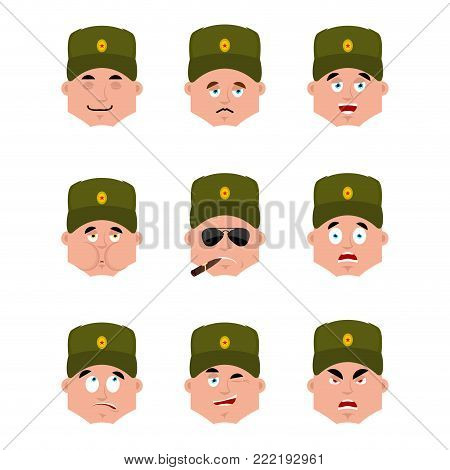 Russian Soldier Set Emoji Avatar