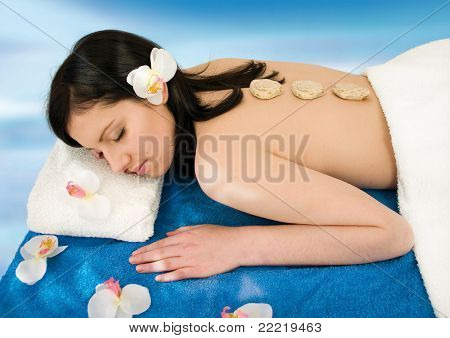 young woman enjoying body-care