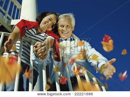 "attractive married mature couple having fun in the park. keyword for this collection is ""seniors77"""