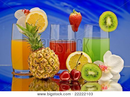 fruit-juice with decoration