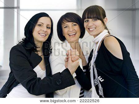 tres businessladies de éxito