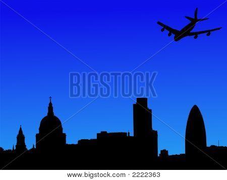 Plane Flying Over London