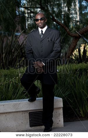 Handsome African American Black Man Groom