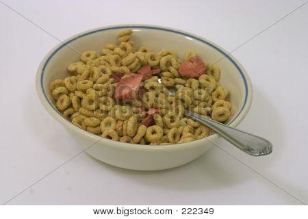 Tigela de cereais secos