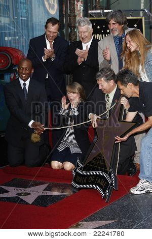 LOS ANGELES, CA - AUG 1: Bill Paxton; Sissy Spacek; David Lynch; Leron Gubler at a ceremony where Sissy Spacek is honored with a star on the Hollywood Walk of Fame in Los Angeles, CA on August 1, 2011
