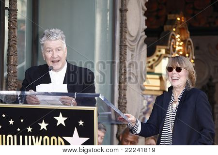 LOS ANGELES, CA - AUG 1: Sissy Spacek; David Lynch at a ceremony where Sissy Spacek is honored with a star on the Hollywood Walk of Fame in Los Angeles, California on August 1, 2011