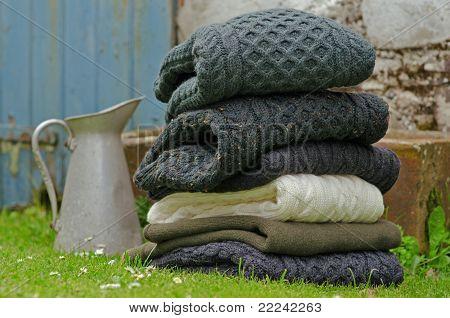 Irish wool winter cable knits