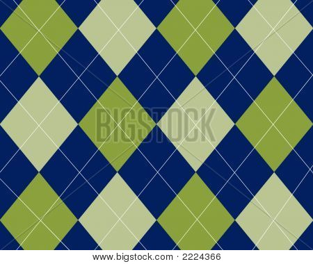 Blue And Green Argyle