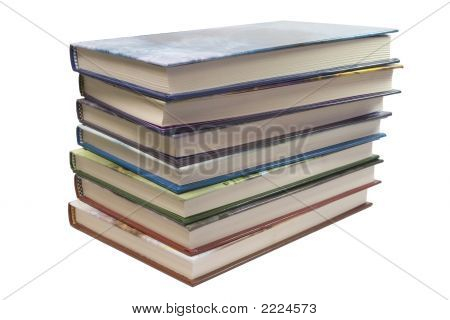7 Books Stack White