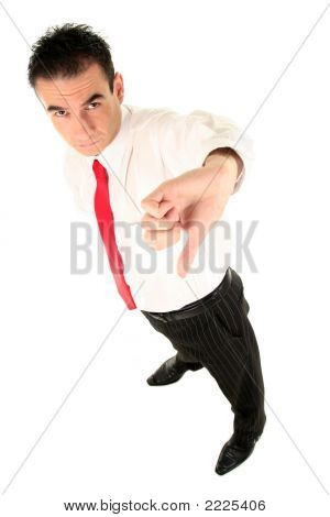 Businessman Giving A Thumbs Down