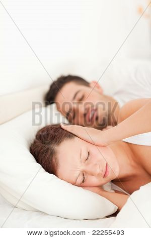 Woman Not Able To Sleep Because Of Snoring