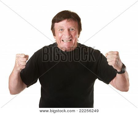 Excited Mature Man
