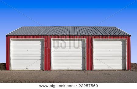 Three Garage Doors Storage