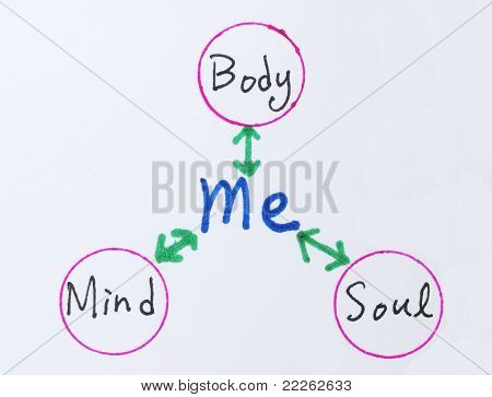 The relationship between Body, Mind, Soul and Me