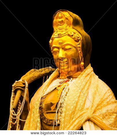 Guanyin Image With Black Background