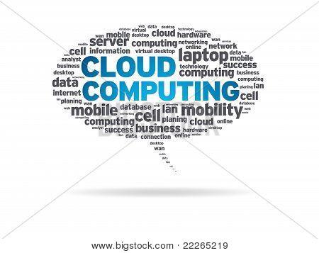 Speech Bubble - Cloud Computing